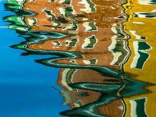 Burano Canal Reflections, Venice, Italy