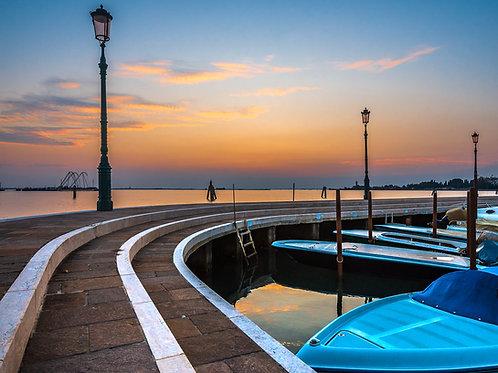 Burano Marina at Sunset, Venice, Italy