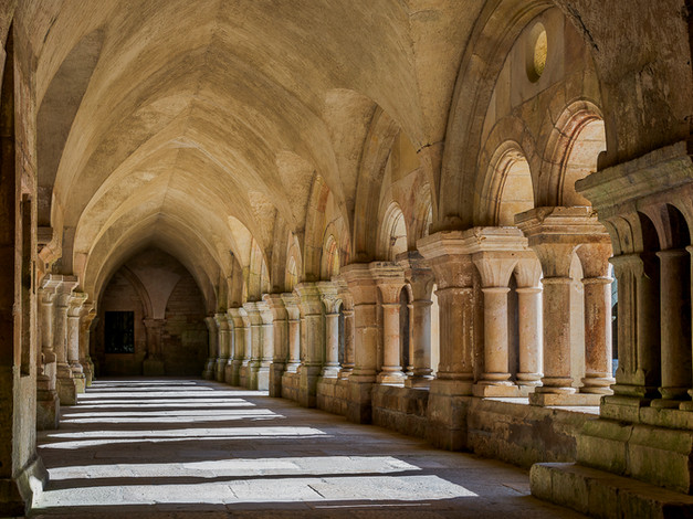 Cloister Arcade, Fontenay Abbey, Burgundy, France