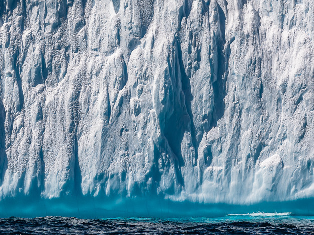 Waterline, Castellated Iceberg, Flandres Bay, Antarctica
