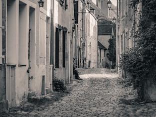 Cobbled Lane, Noyers-sur-Serein, Burgundy, France