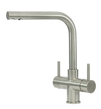 Sorrento 2 Lever Brushed Steel