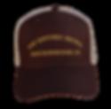 The Historic Brown Trucker Cap - front