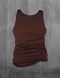 The Historic Brown Tank Top - back