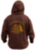 The Historic Brown hoodie - back