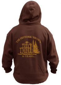 The Historic Brown hoodie - back