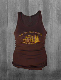 The Historic Brown Tank Top - front
