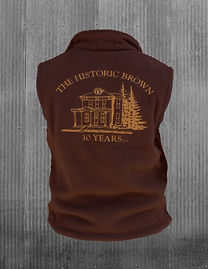 The Historic Brown Vest - back