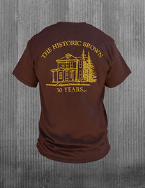 The Historic Brown T-Shirt - back