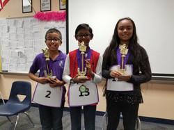 3-5 Grades Spelling Bee Winners