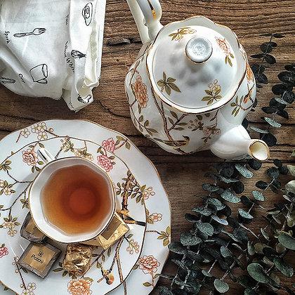 歐式復古花鳥茶組