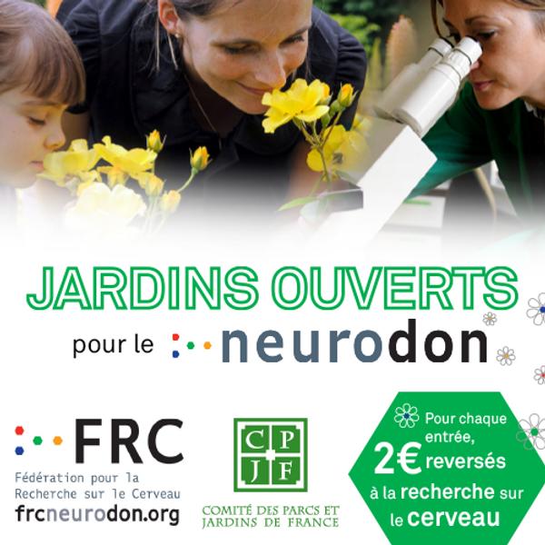 Jardins Ouverts pour le Neurodon - 8 et 9 mai 2021