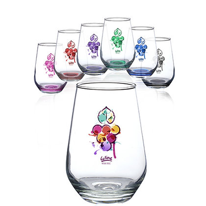 16oz. Vaso Silicia Stemless Wine Glasses