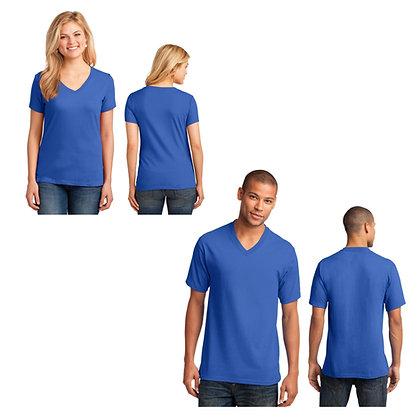 Port & Company Gents & Ladies 5.4oz 100% Cotton V-Neck T-Shirt