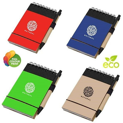 Eco Friendly Recycled Mini Jotter with Pen