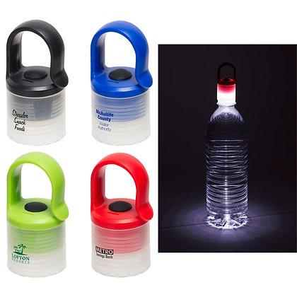 Glow Light Bottle Cap with Black Clip
