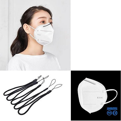 Standard Protection KN95 Face Mask with Lanyard