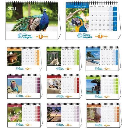 2021 Spiral Desk Calendar
