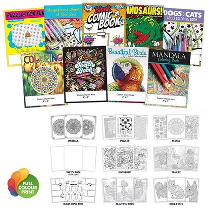 """12pg Activity Colouring Book 8.5"""" x 11"""""""