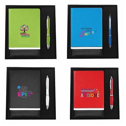 Motivate Padded Accent Journal with Pen in Gift Box