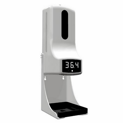 Automatic Infared Temperature And Sanitizer Dispenser Station