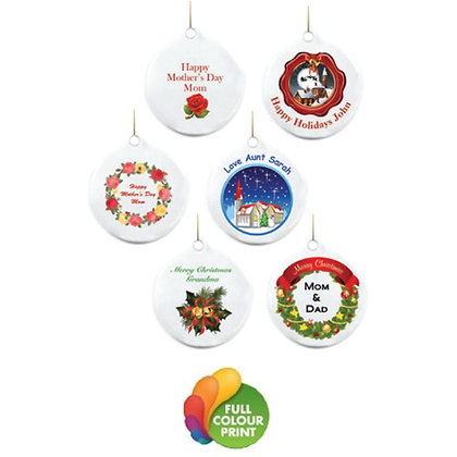 Minimins Hanging Ceramic Ornaments
