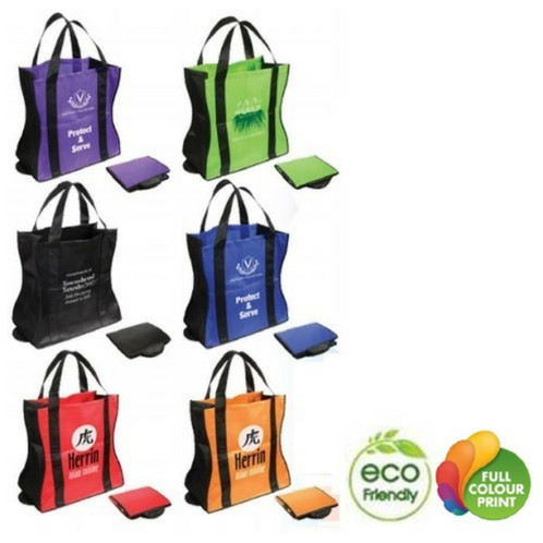 f7e2ec2b79e Stylish curved design with reinforced bottom panel. Folds compactly   snaps  shut  displays colour when folded. Black accent trim gives bag a designer  look.