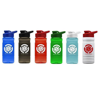 20oz Recycled PETE Bottle With Drink-Thru-Lid