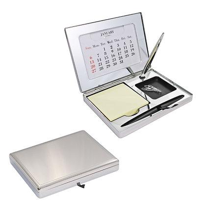 Executive Desk Organizer with Calendar, Clip Holder