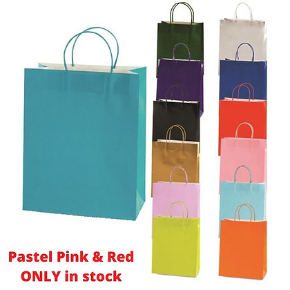 Coloured Paper Gift Bag - Medium