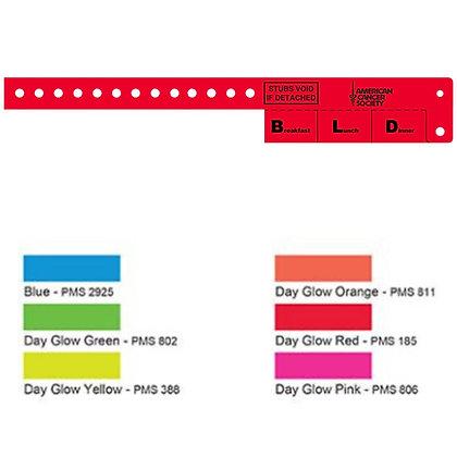 Multi-Tab Vinyl Wristband with 3 Tabs