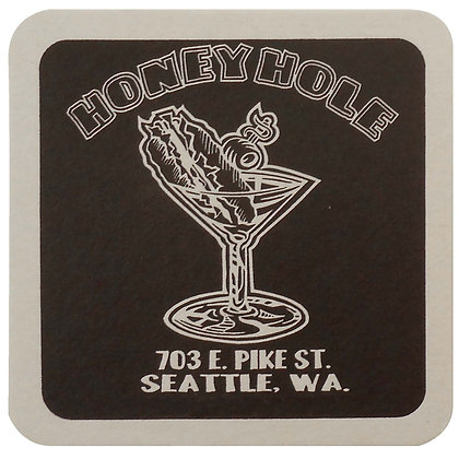 "40 Pt. 4"" Square Coaster - White High Density Coasters"
