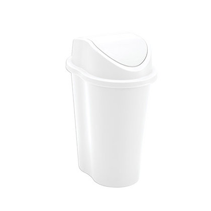 RIMAX 1.32 GAL SWING LID TRASH BIN WHITE (8775)