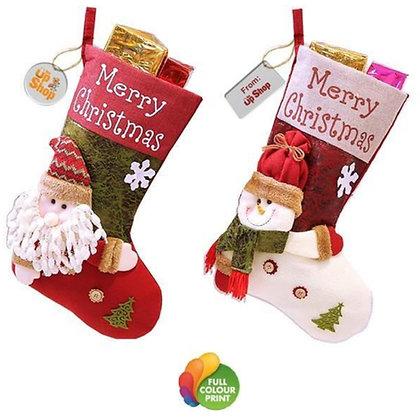 Christmas Stocking with Acrylic Tag