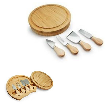 5Pc Bamboo Cheese Set/Serving Board