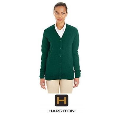 Harriton Ladies' Pilbloc™ V-Neck Button Cardigan Sweater