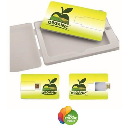 32GB Flip Card USB Flash Drive in Plastic Magnet Box