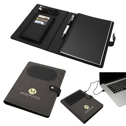 Navigate Notebook with Wireless Phone Charger