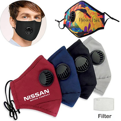 Customized Reusable Face Mask with Filter and Valve