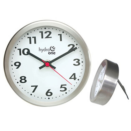 "Stainless Steel Metal 6"" Deluxe Wall and Desk Clock"
