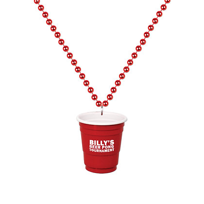 2oz Red Cup Shot Glass on Beads