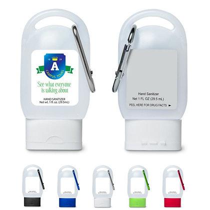1oz Hand Sanitizer in Carabiner Bottle