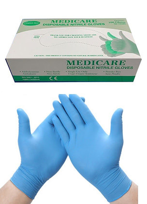 Latex-Free Nitrile Gloves - Large