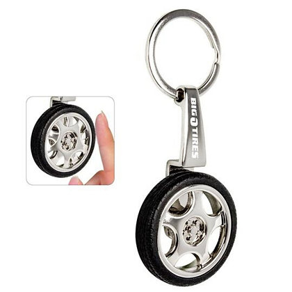 Spinning Tire Key Chain