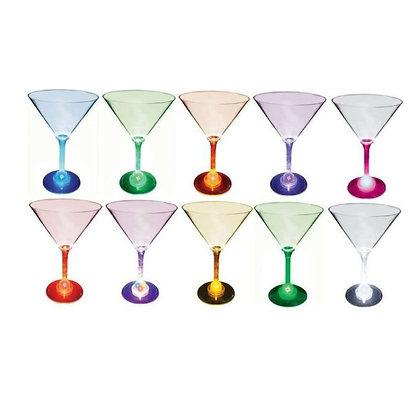 10oz. Lighted Standard Stem Martini Acrylic Glass