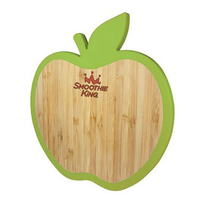 Apple Bamboo Trivet with Silicone Edge