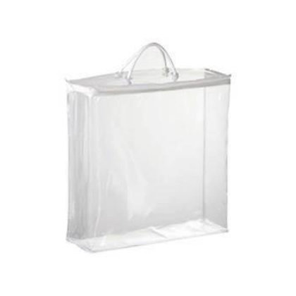 Clear Zippered Vinyl Bag with Rope Handles