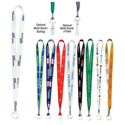 "0.75"" Full Colour Imprint Smooth Dye Sublimation Lanyard"