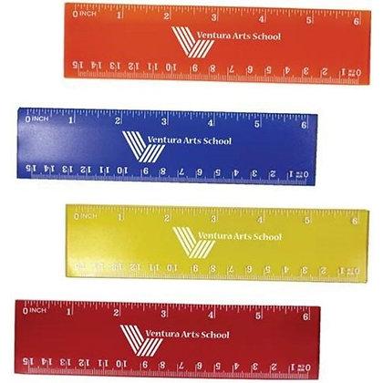 """Translucent 6"""" Plastic Ruler"""