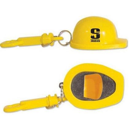 Construction Hat Bottle Opener Keychain